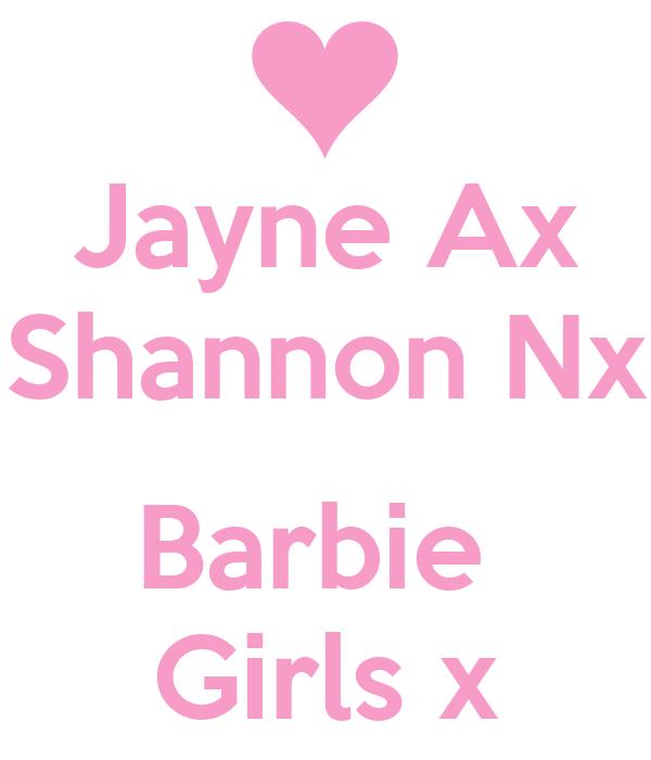 Jayne Ax Shannon Nx  Barbie  Girls x