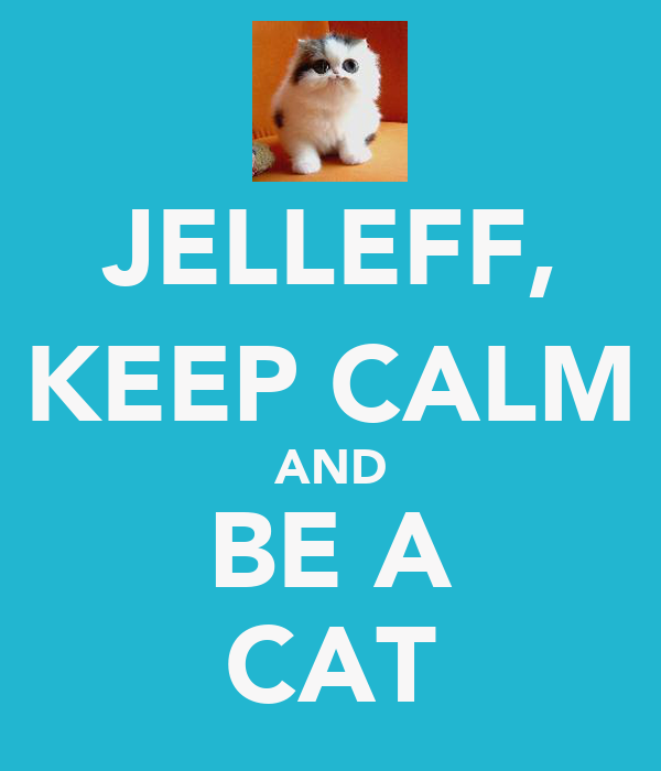 JELLEFF, KEEP CALM AND BE A CAT