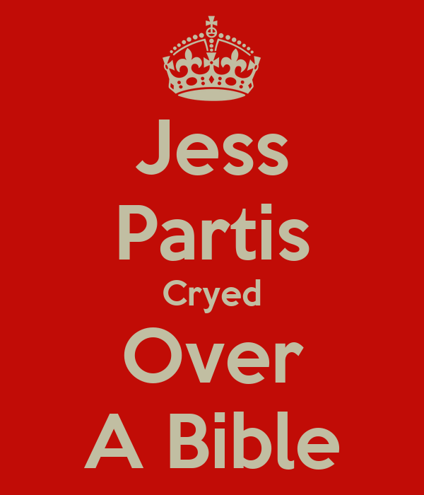 Jess Partis Cryed Over A Bible