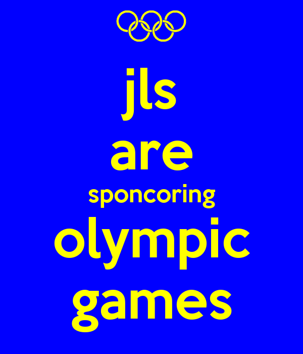 jls are sponcoring olympic games