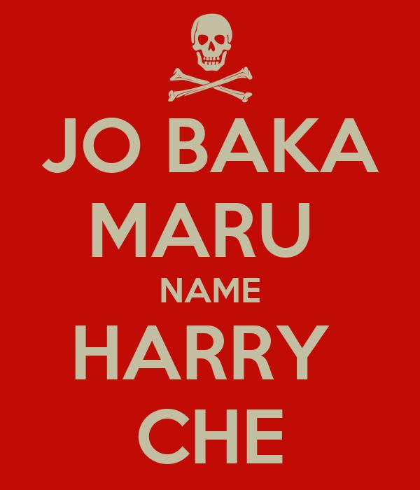 JO BAKA MARU  NAME HARRY  CHE