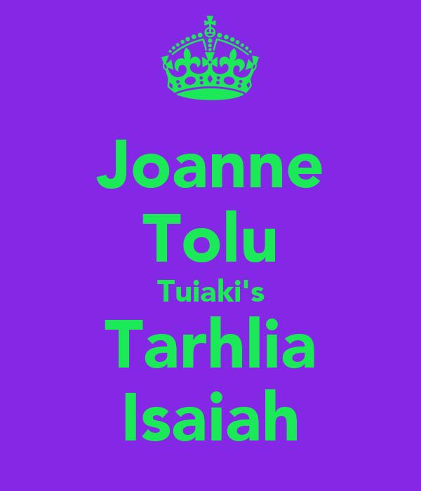 Joanne Tolu Tuiaki's Tarhlia Isaiah