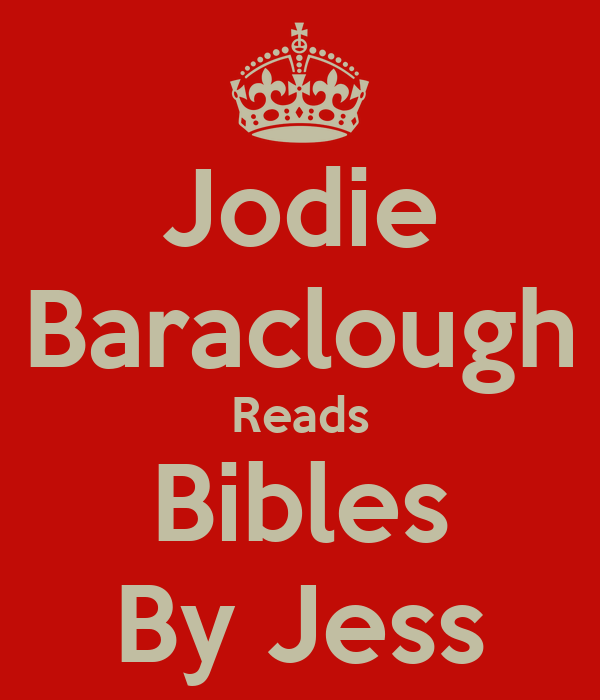 Jodie Baraclough Reads Bibles By Jess