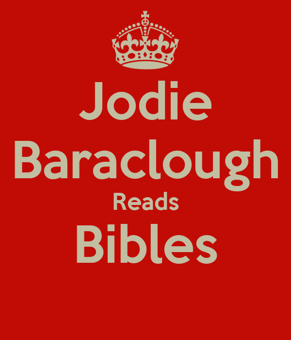 Jodie Baraclough Reads Bibles