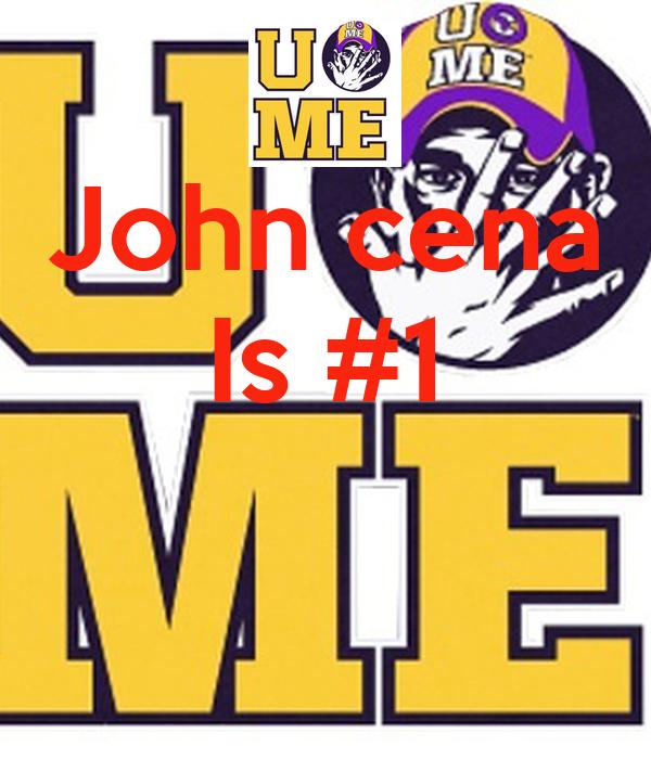 John cena Is #1