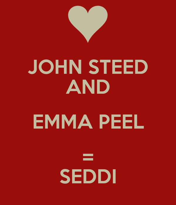JOHN STEED AND EMMA PEEL = SEDDI