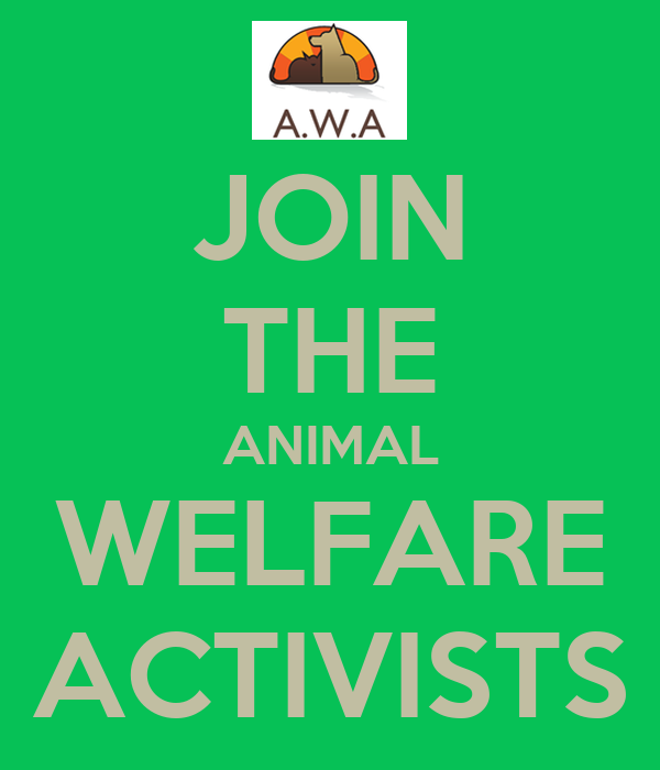 JOIN THE ANIMAL WELFARE ACTIVISTS