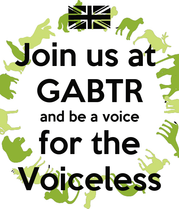 Join us at  GABTR and be a voice for the Voiceless