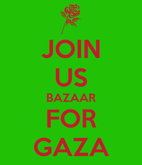 JOIN US BAZAAR FOR GAZA