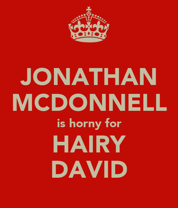 JONATHAN MCDONNELL is horny for HAIRY DAVID