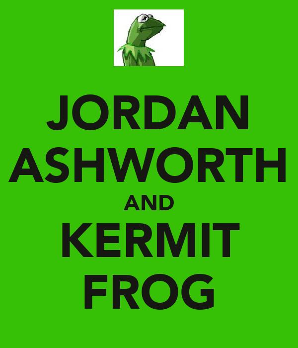JORDAN ASHWORTH AND KERMIT FROG
