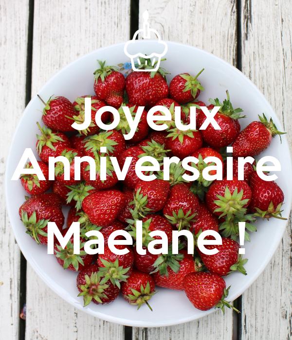 Joyeux Anniversaire  Maelane !