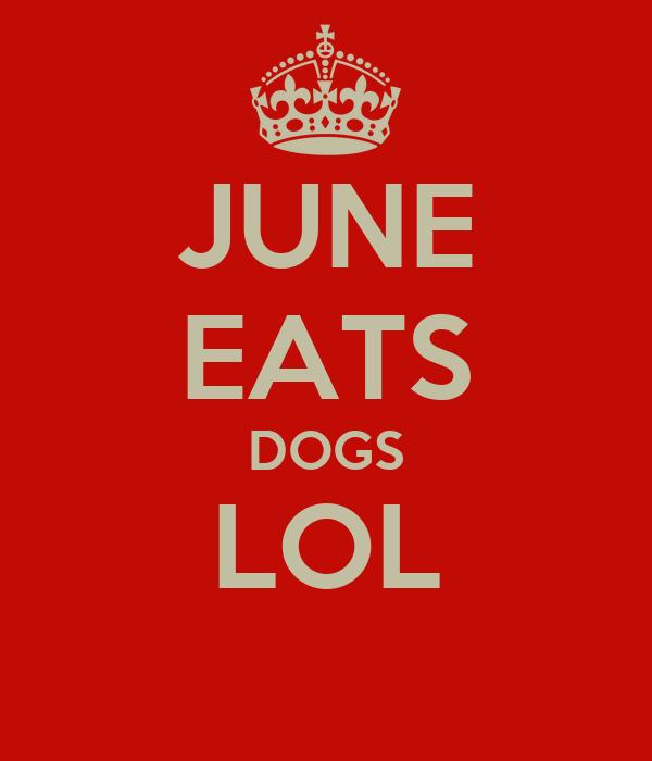 JUNE EATS DOGS LOL