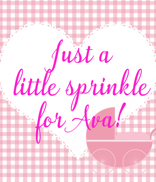 Just a little sprinkle for Ava!