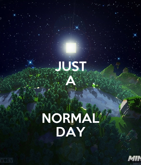 JUST A  NORMAL DAY