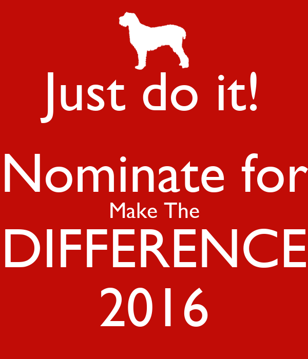 Just do it! Nominate for Make The DIFFERENCE 2016