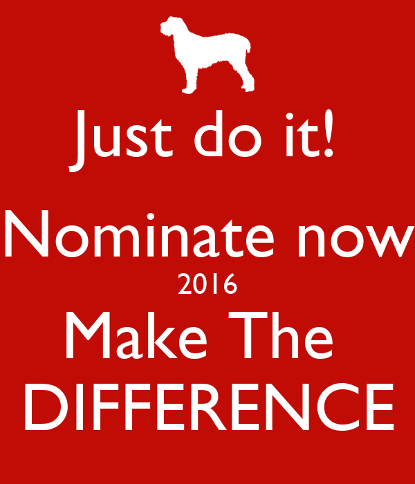 Just do it! Nominate now 2016 Make The  DIFFERENCE