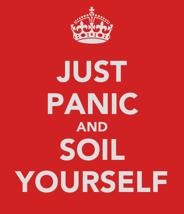 JUST PANIC AND SOIL YOURSELF