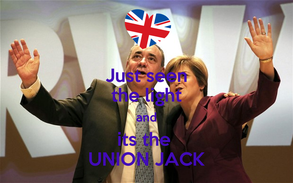 Just seen the light and its the  UNION JACK