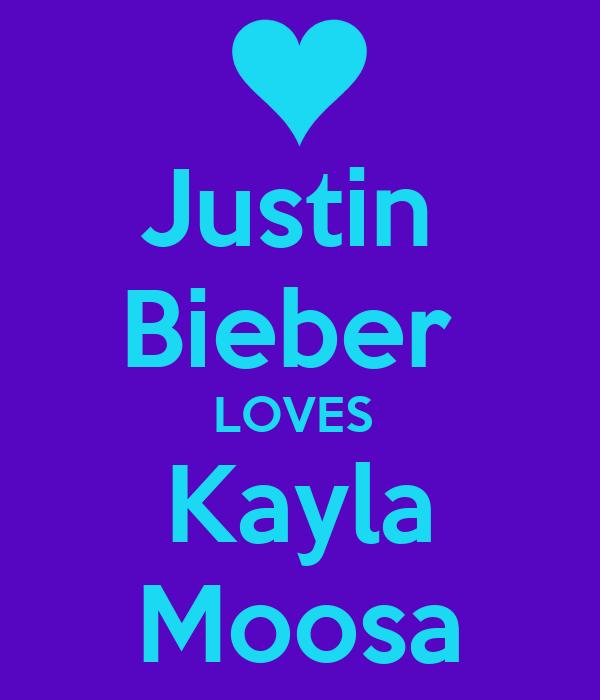 Justin  Bieber  LOVES  Kayla Moosa