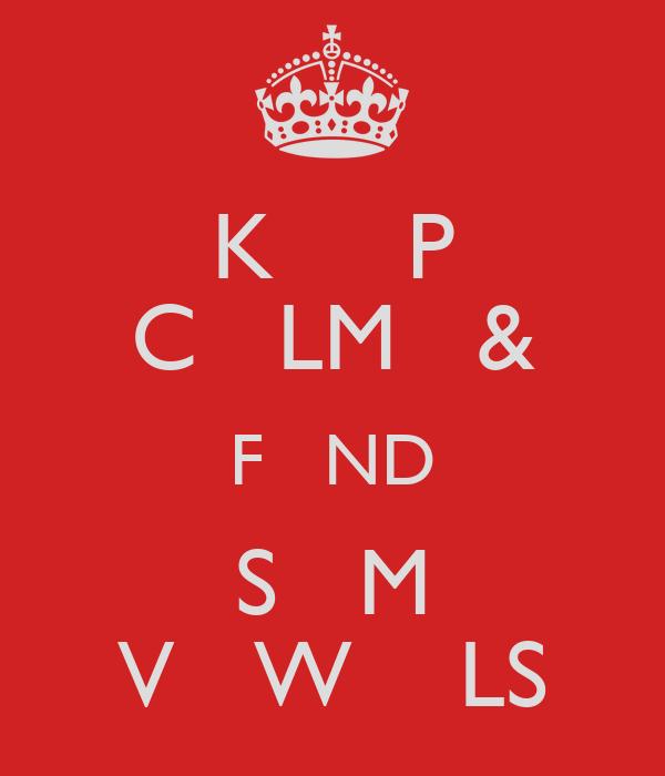 K     P C   LM   & F   ND S   M V   W    LS