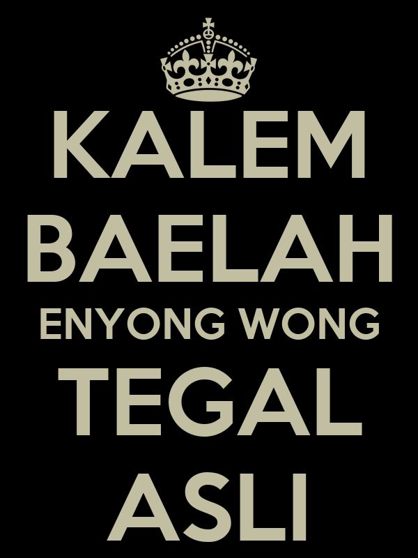 KALEM BAELAH ENYONG WONG TEGAL ASLI