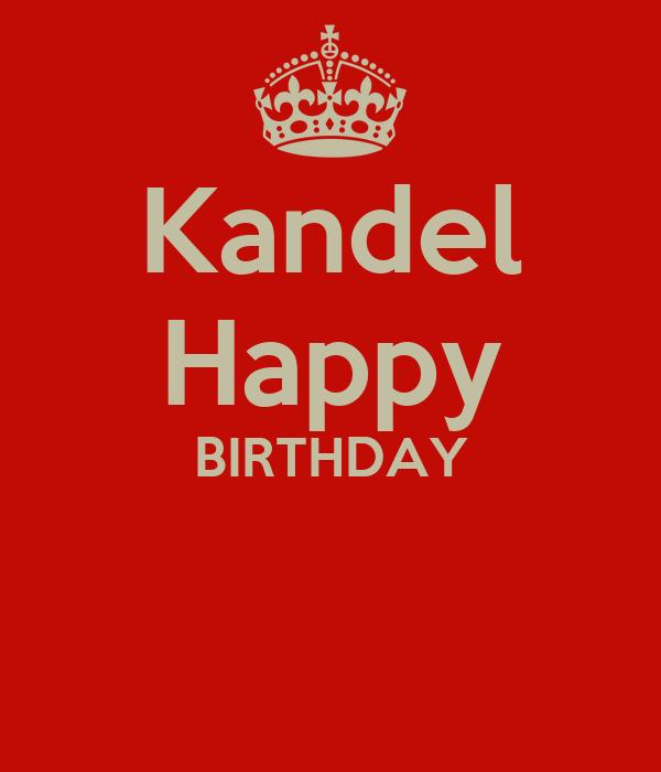 Kandel Happy BIRTHDAY