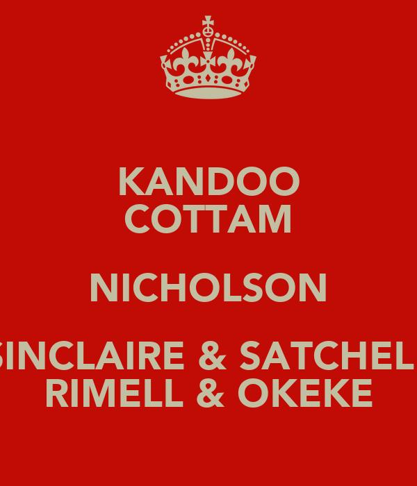 KANDOO COTTAM NICHOLSON SINCLAIRE & SATCHELL RIMELL & OKEKE