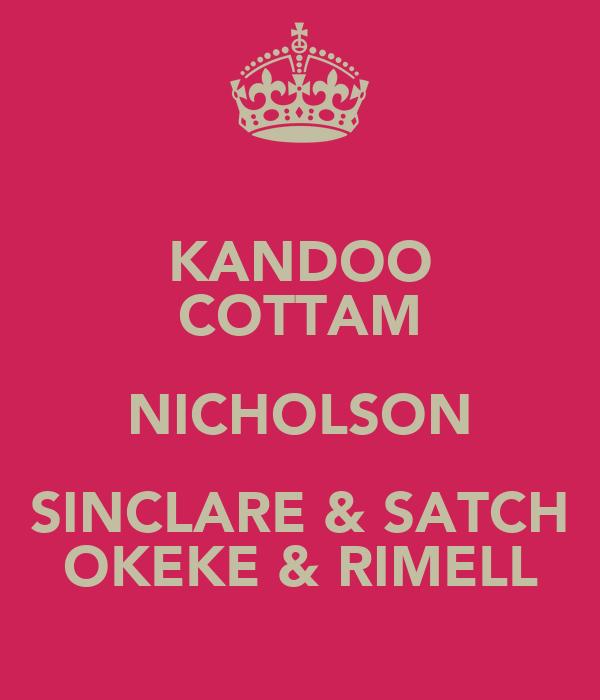 KANDOO COTTAM NICHOLSON SINCLARE & SATCH OKEKE & RIMELL