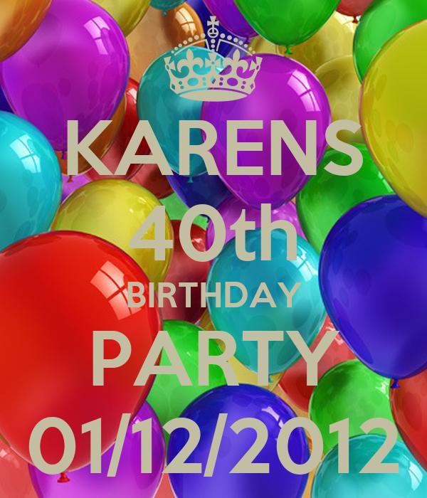 KARENS 40th BIRTHDAY PARTY 01/12/2012