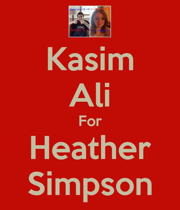 Kasim Ali For Heather Simpson