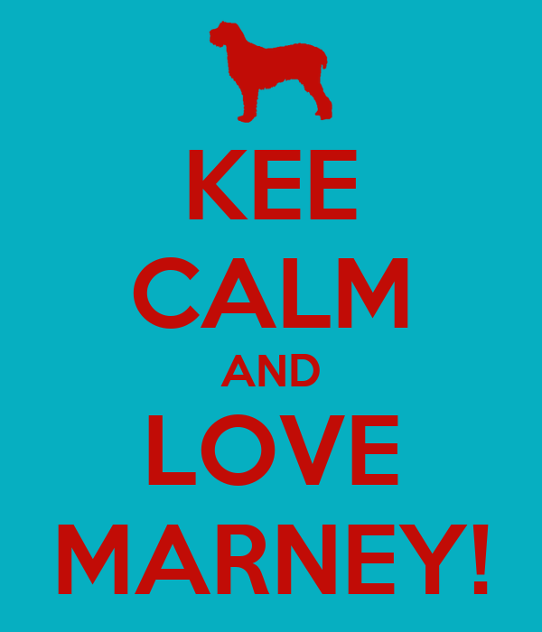 KEE CALM AND LOVE MARNEY!