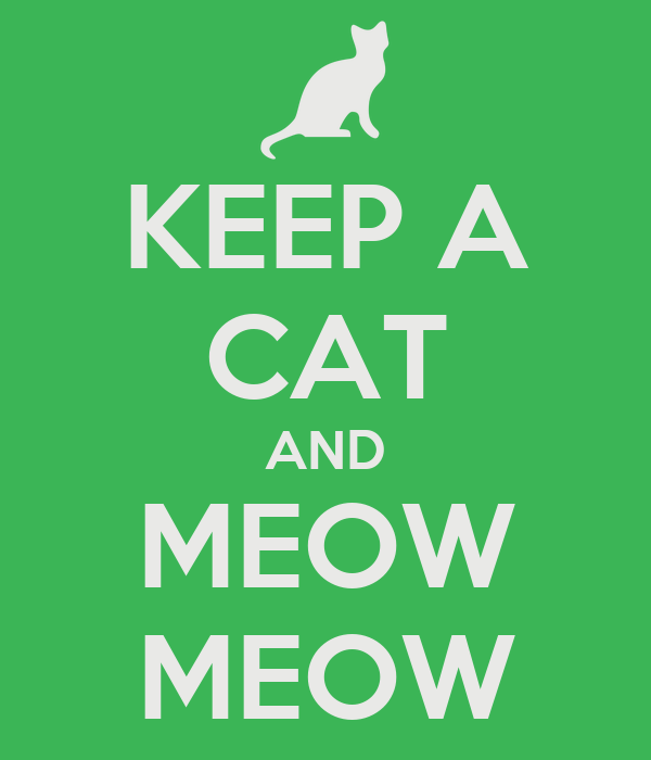 KEEP A CAT AND MEOW MEOW