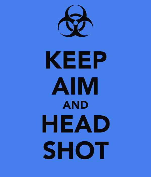 KEEP AIM AND HEAD SHOT