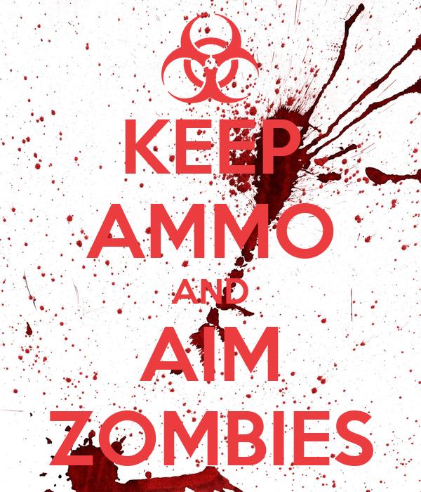 KEEP AMMO AND AIM ZOMBIES