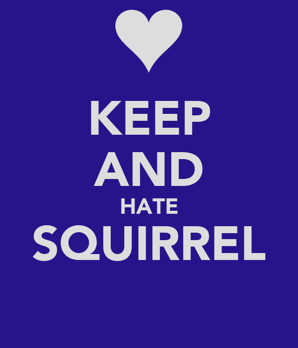 KEEP AND HATE SQUIRREL