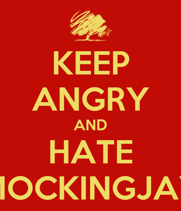 KEEP ANGRY AND HATE MOCKINGJAY