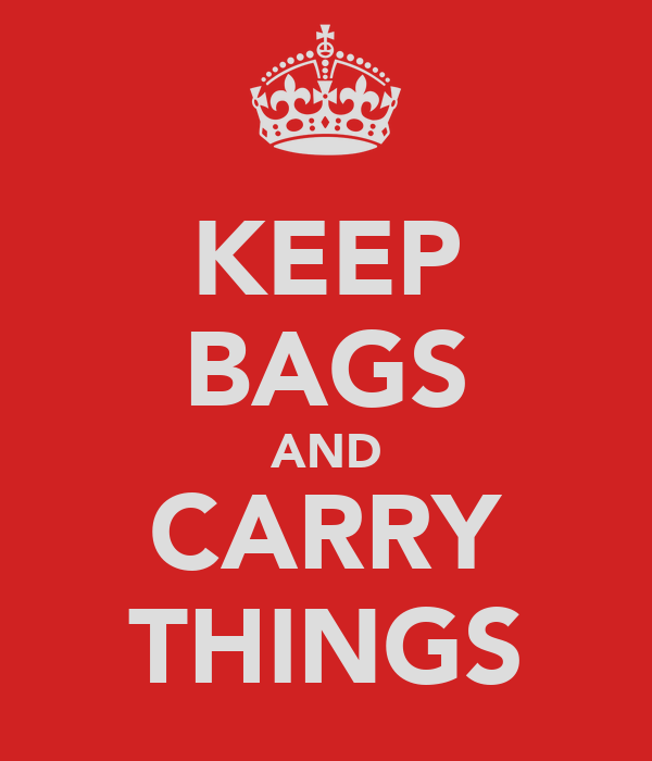 KEEP BAGS AND CARRY THINGS