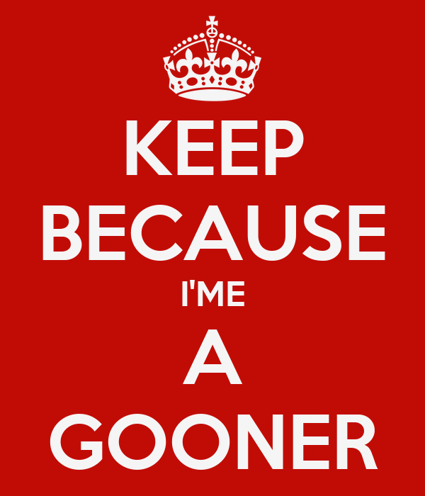 KEEP BECAUSE I'ME A GOONER