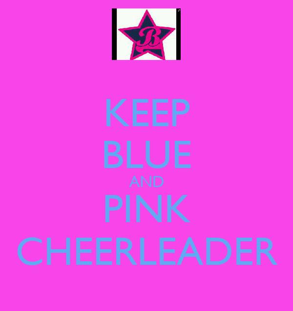 KEEP BLUE AND PINK CHEERLEADER