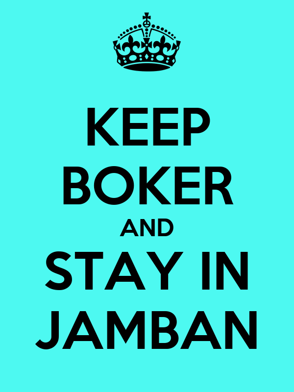KEEP BOKER AND STAY IN JAMBAN