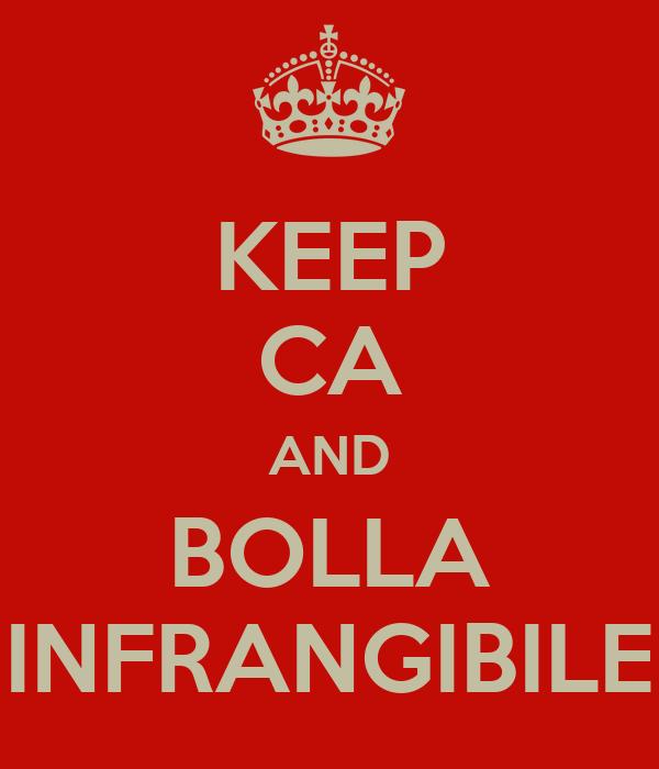 KEEP CA AND BOLLA INFRANGIBILE