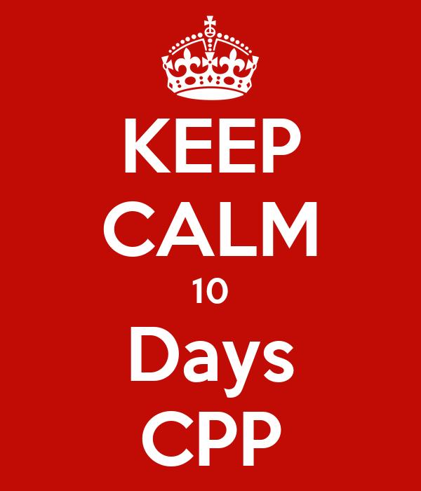 KEEP CALM 10 Days CPP