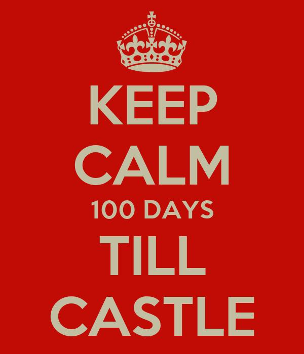 KEEP CALM 100 DAYS TILL CASTLE