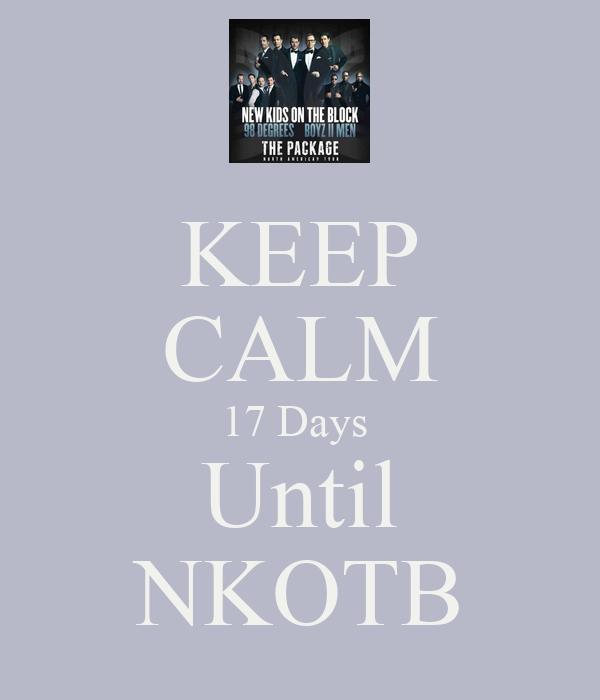 KEEP CALM 17 Days  Until NKOTB