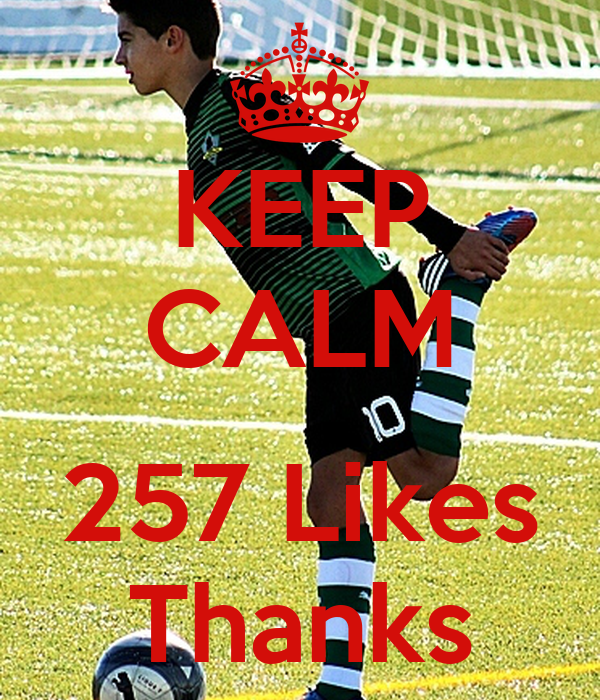 KEEP CALM  257 Likes Thanks