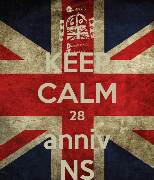 KEEP CALM 28 anniv NS