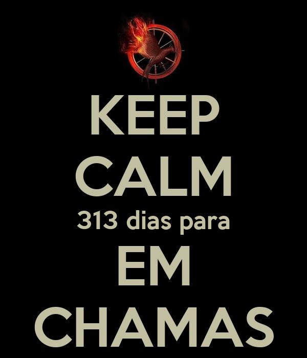 KEEP CALM 313 dias para EM CHAMAS