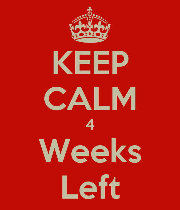 KEEP CALM 4 Weeks Left