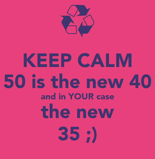 keep calm 50 is the new 40 and in your case the new 35 poster